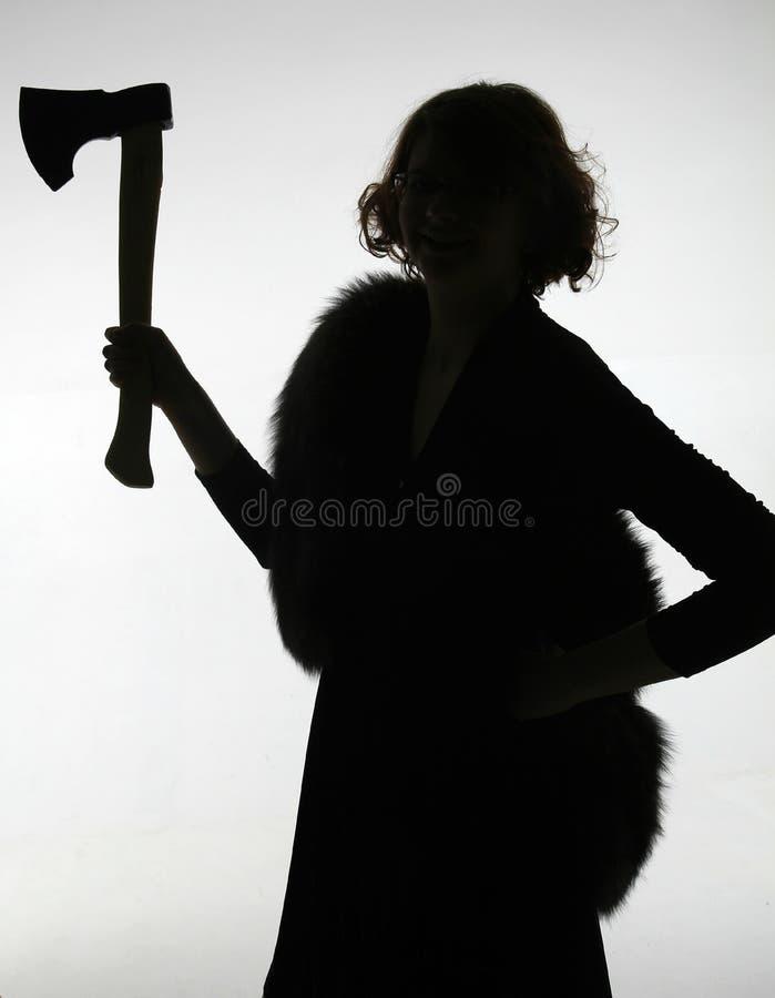 Silhouette femelle image libre de droits