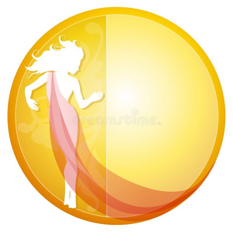 Silhouette femelle dans la robe illustration libre de droits