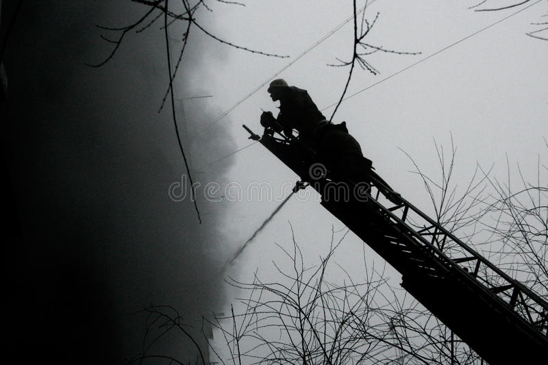 Download Silhouette of Firemen stock photo. Image of helmets, silhouette - 29754456