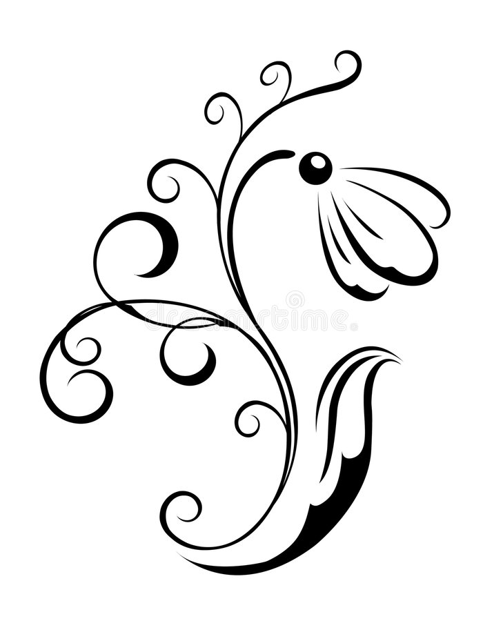 Download Silhouette Of The First Snowdrop Stock Vector - Image: 4644666