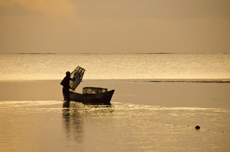 Download Silhouette fisherman stock photo. Image of blue, industry - 29020838