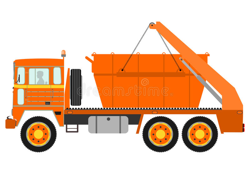 Silhouette Of Garbage Truck Royalty Free Stock Photos