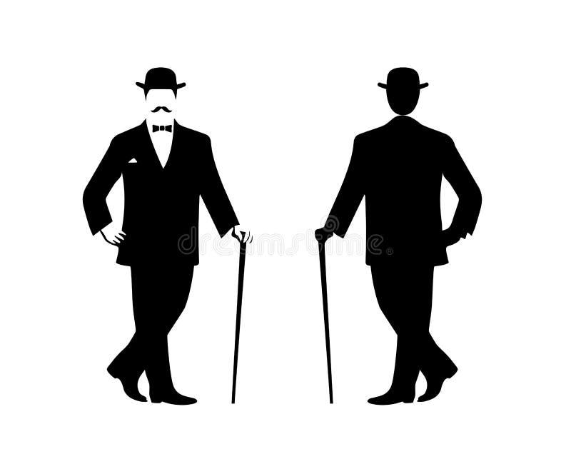 Silhouette Of A Gentleman In A Tuxedo Stock Vector