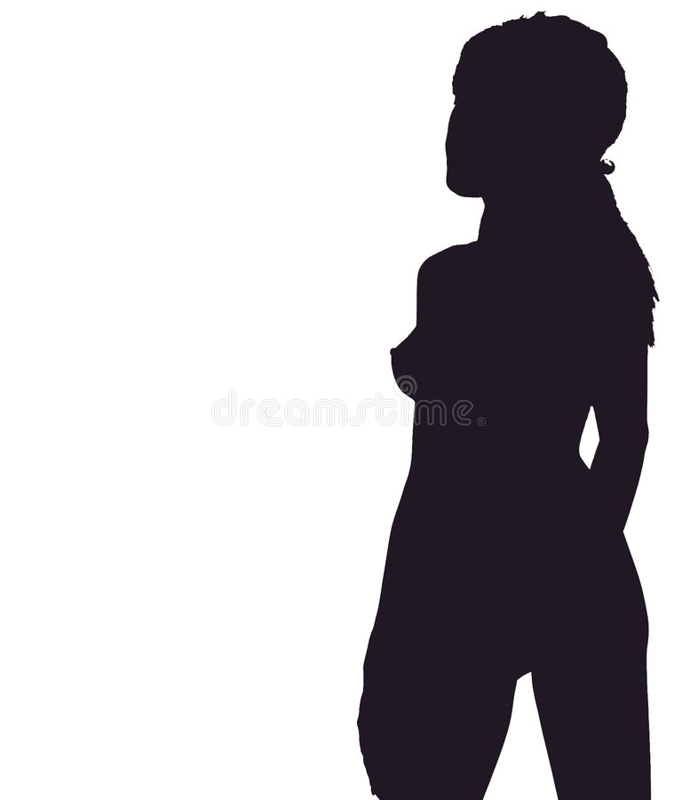 Download Silhouette of girl stock illustration. Illustration of black - 166930