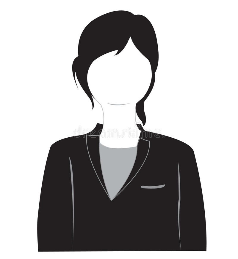 Download Silhouette Of The Girl In Suit Stock Vector - Image: 20611983
