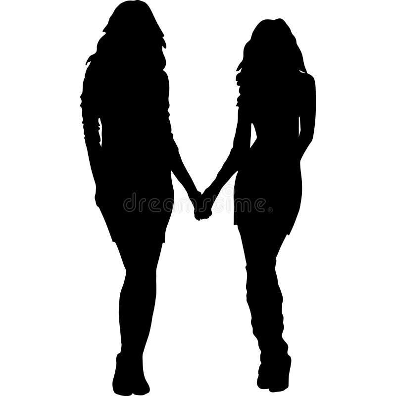 Girlfriends Silhouette Stock Illustrations – 297 Girlfriends ...