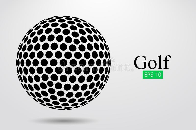 Silhouette of a golf ball. Vector illustration. Silhouette of a golf ball. Background and text on a separate layer, color can be changed in one click. Vector