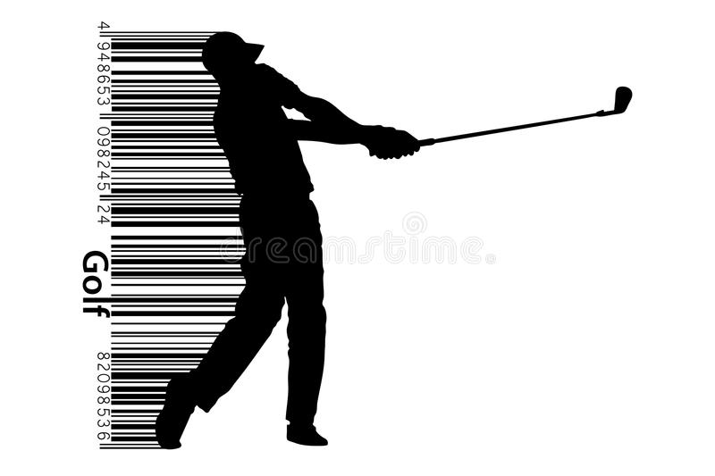 Silhouette of a golf player. Vector illustration stock illustration