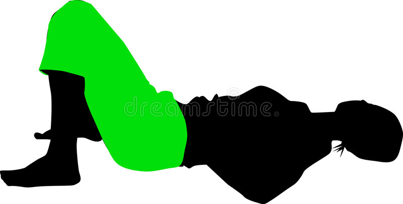 Download Silhouette in green stock illustration. Illustration of shape - 159482