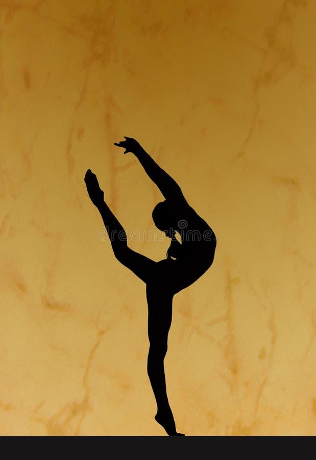 Silhouette gymnastique illustration de vecteur