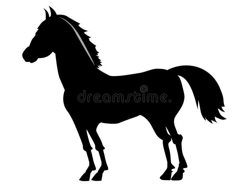 Silhouette of horse stock illustration
