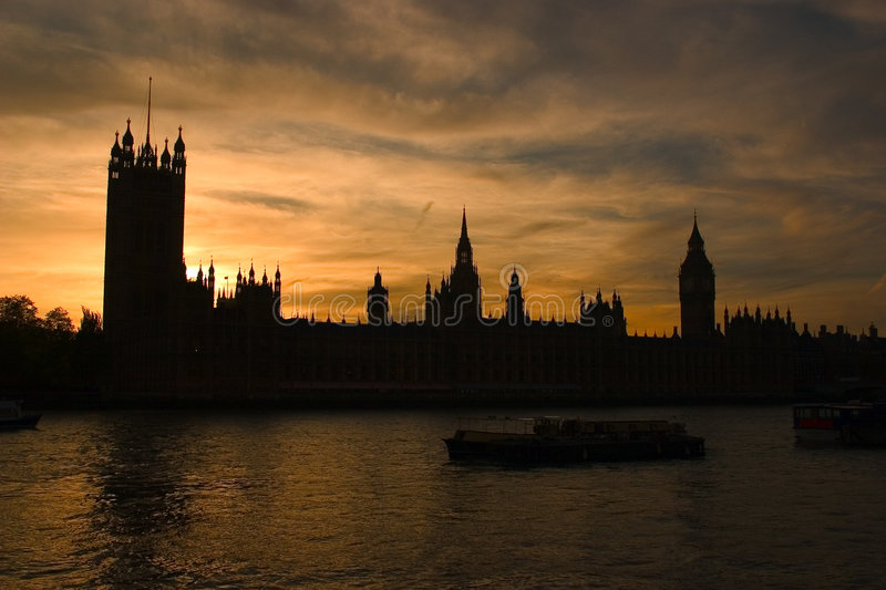 Silhouette of the houses of parliament stock photos