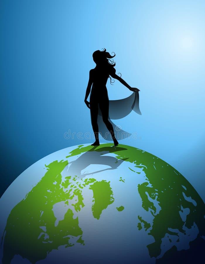 Silhouette humaine 2 de Terre illustration de vecteur