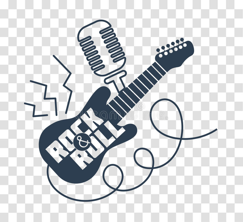 Silhouette icon Rock-n-roll Day vector illustration