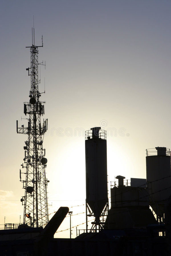Silhouette industrielle photo libre de droits