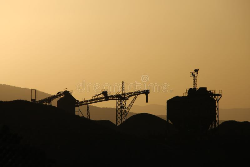 Silhouette industrielle photographie stock libre de droits