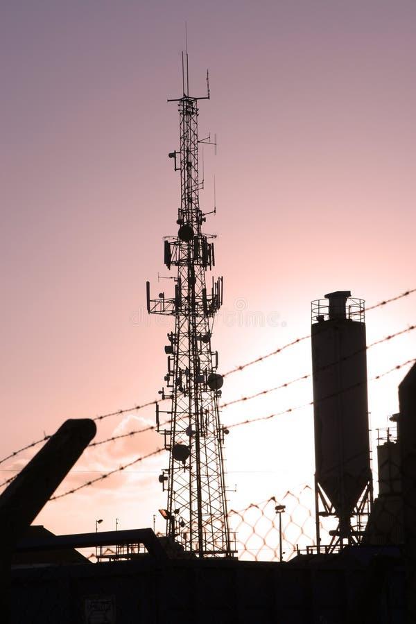 Silhouette industrielle images libres de droits