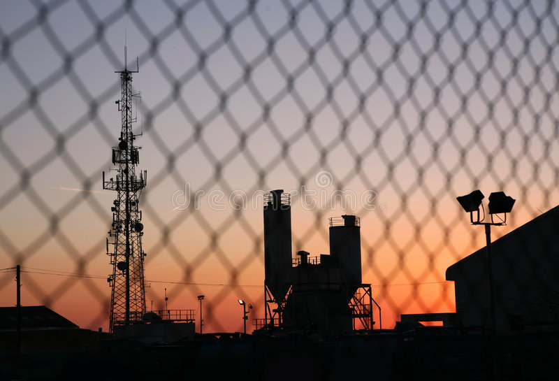 Silhouette industrielle image stock
