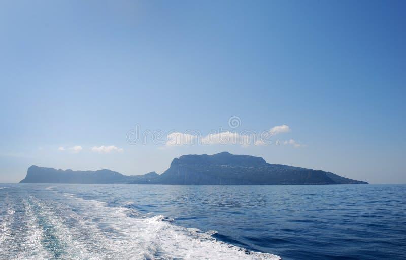 Download Silhouette Of Island Of Capri Stock Image - Image: 21548645