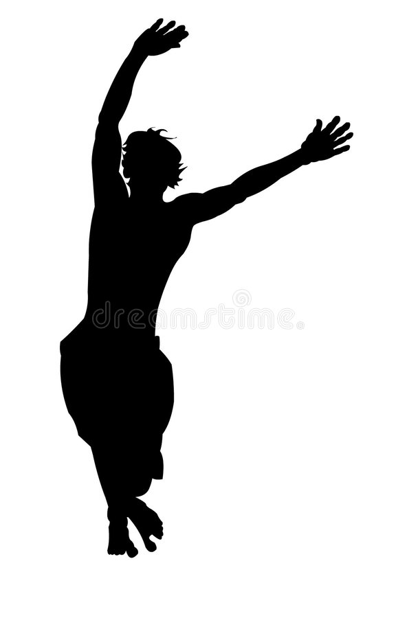 Download Silhouette - Jump 4 stock illustration. Image of hands - 255221