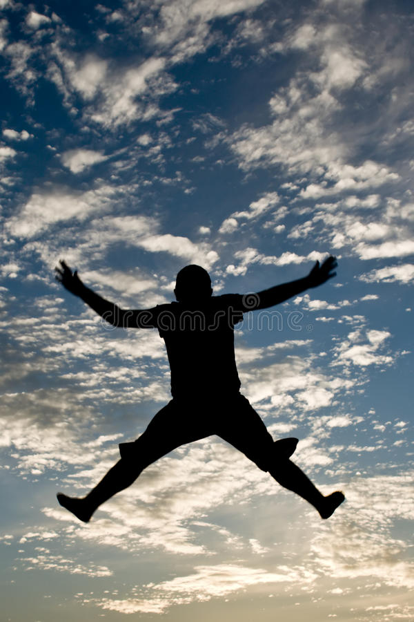 Silhouette Jumping Stock Photos