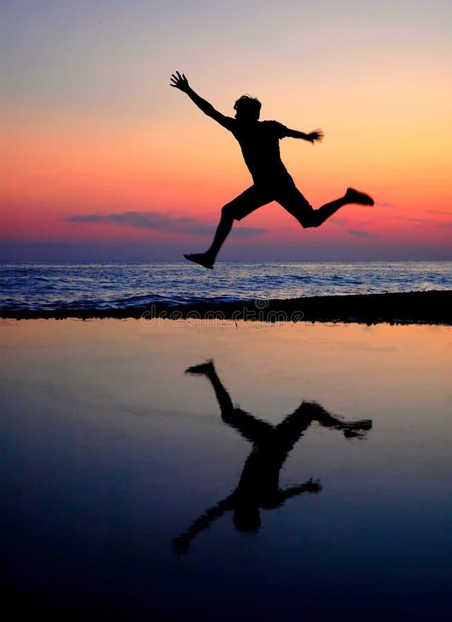 Free Silhouette Jumping Men Stock Photo - 11478420