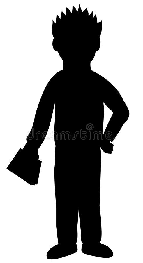 Silhouette of kid royalty free stock photography