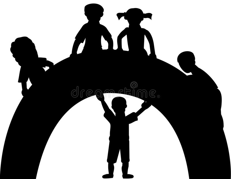 download silhouette of kids stock vector image of background ponytail 8171726