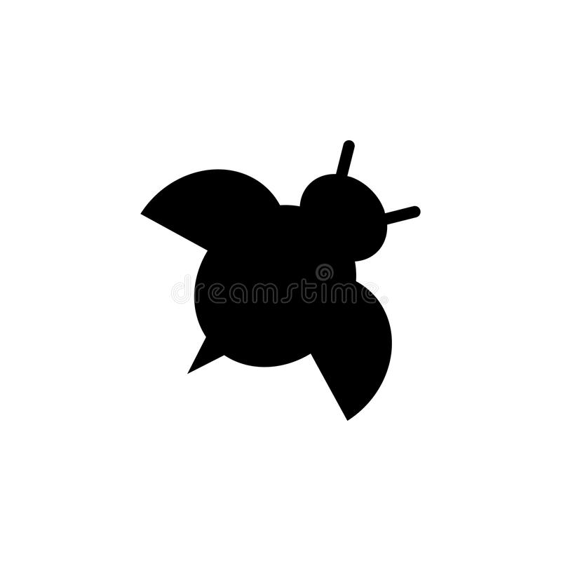 Silhouette of ladybug icon. Element of animals icon for mobile concept and web apps. Detailed silhouette of ladybug icon can be us. Ed for web and mobile on vector illustration