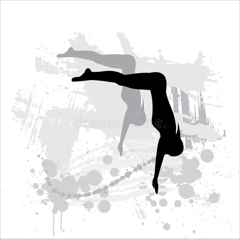 Download Silhouette Of The Light Athlete Royalty Free Stock Photos - Image: 9304928