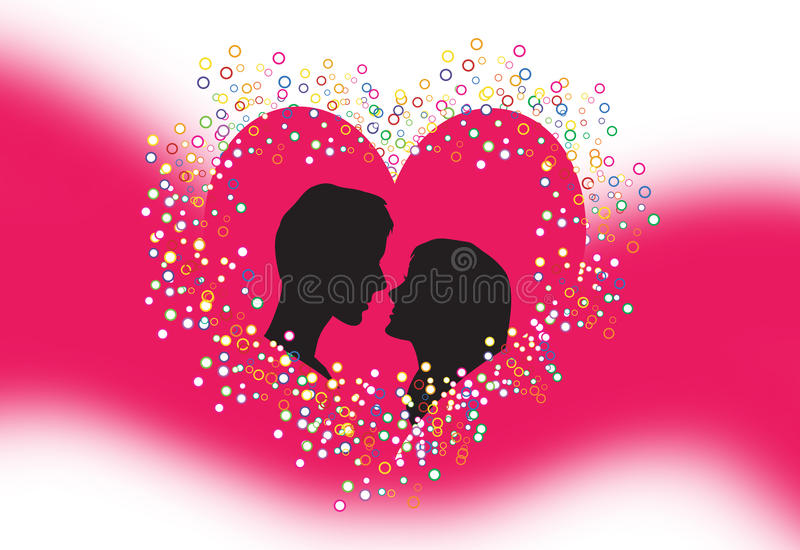 Download Silhouette of lovers stock vector. Image of first, gentleman - 12980321