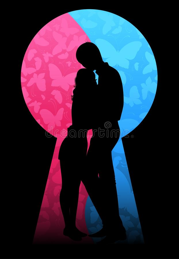 Download Silhouette of lovers stock vector. Illustration of insect - 15788323