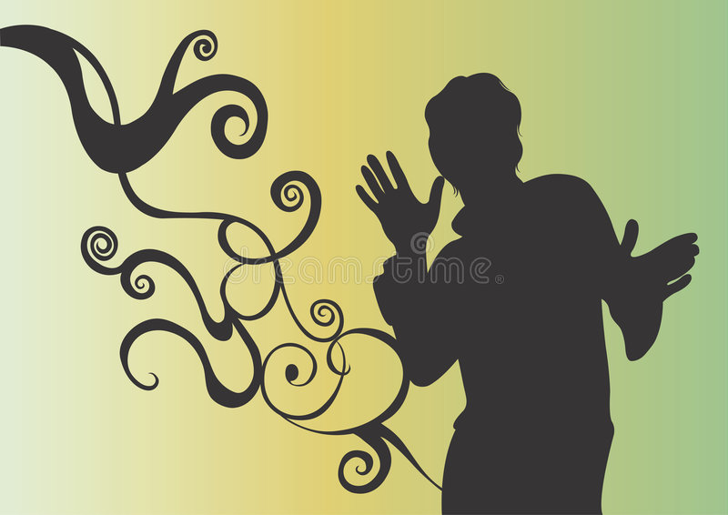 Silhouette mâle illustration stock