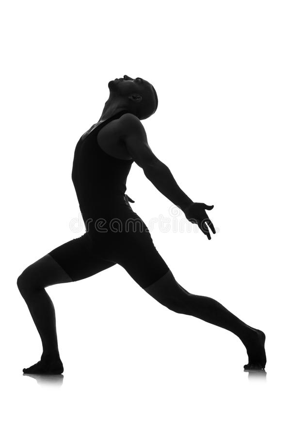 Download Silhouette of male dancer stock image. Image of action - 34468929