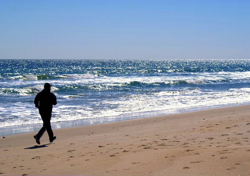 Download Silhouette Of Male Jogger In Carolina Beach, NC Stock Image - Image: 8856229