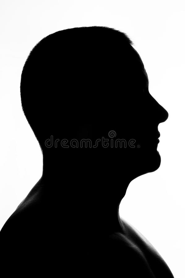 Silhouette of man royalty free stock photo