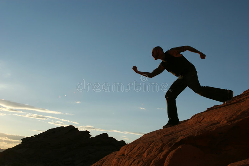 Download Silhouette Of A Man Stock Photo - Image: 2762780