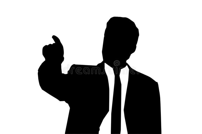 Silhouette of man vector illustration