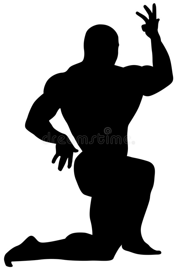 silhouette of man vector illustration