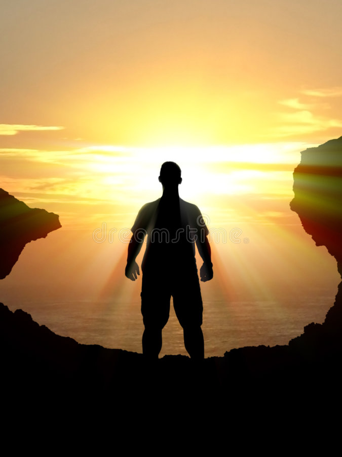 Silhouette Of Man Stock Image