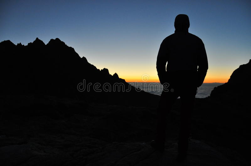 Silhouette Of Man On Coastline Free Public Domain Cc0 Image