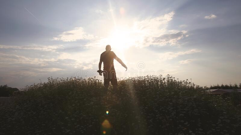 Silhouette of Man during Daytime stock images
