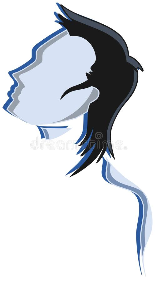 Download Silhouette of a man face stock vector. Illustration of abstract - 33928393