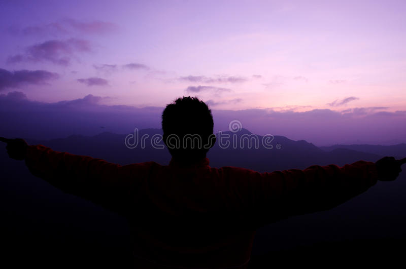 Silhouette man royalty free stock image