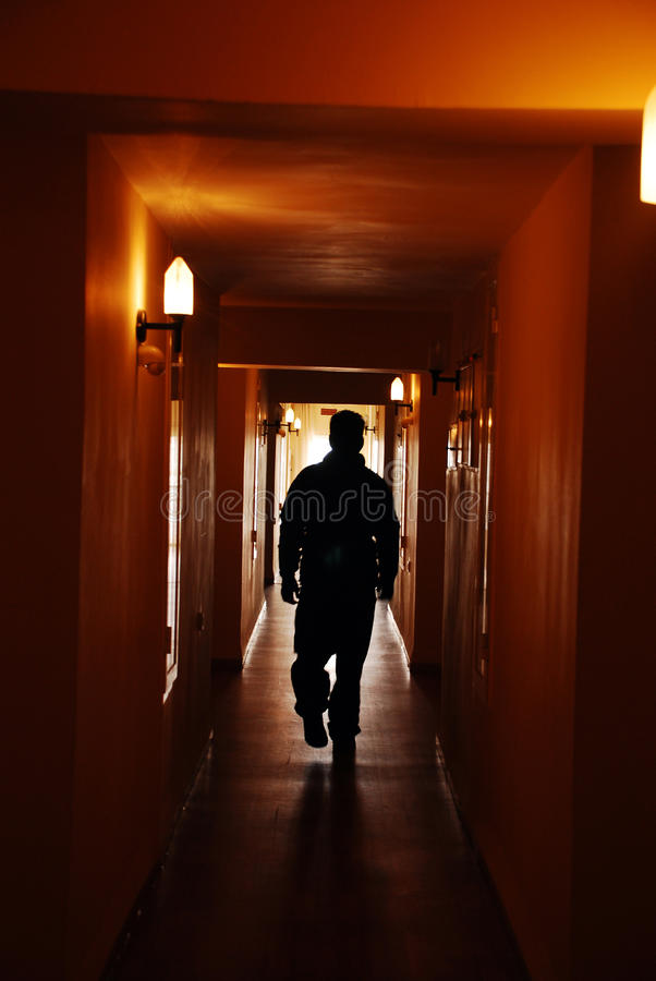 Download Silhouette man in hall stock image. Image of despair - 12801321