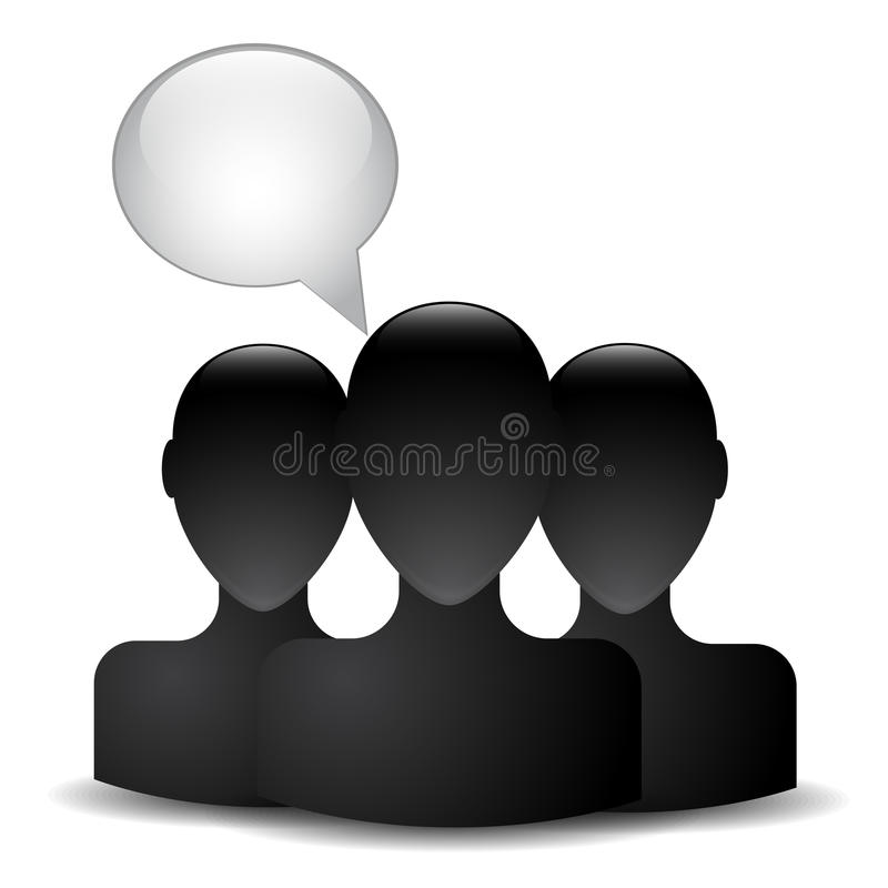Silhouette of a man head royalty free illustration