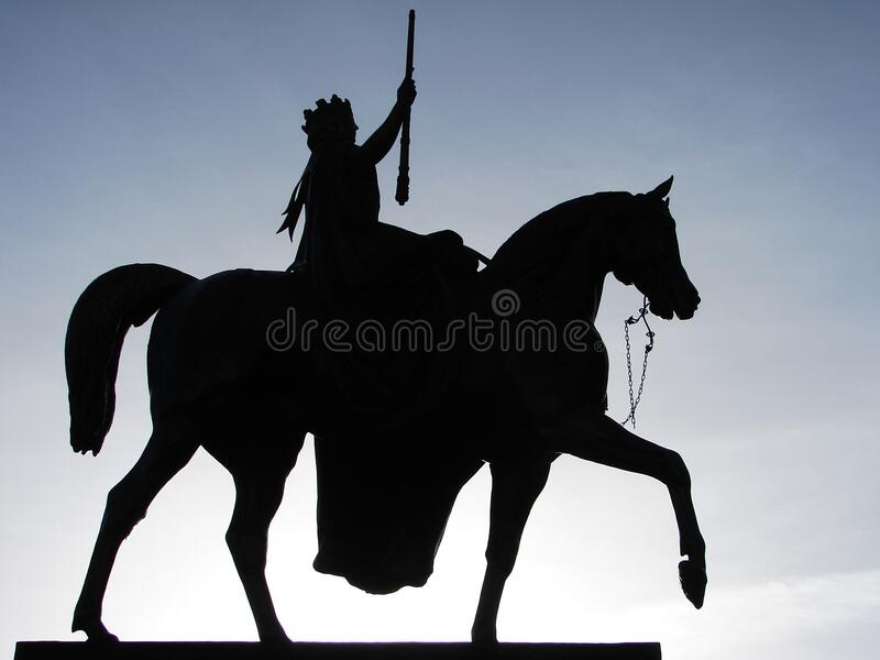 Silhouette Of Man Holding Rifle Riding On Horse Free Public Domain Cc0 Image