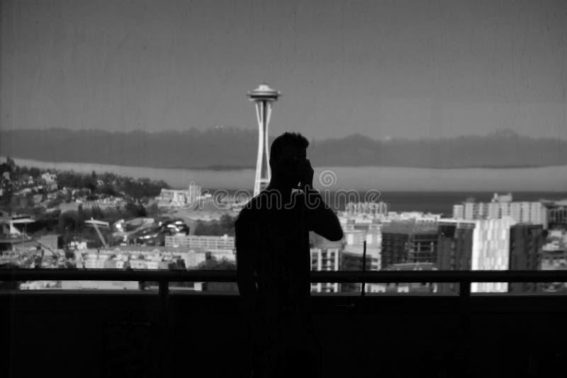 Silhouette Of Man Near Handrails Free Public Domain Cc0 Image