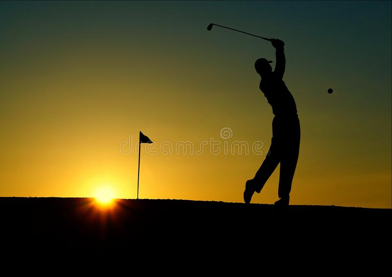 Silhouette Of Man Playing Golf During Sunset Free Public Domain Cc0 Image