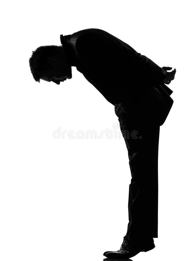 Download Silhouette  Man  Tip Toe Looking Down Stock Image - Image: 21034887